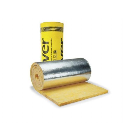 Isover Duct Wrap Insulation Thermal Roll Acoustic Attenuation Silver Aluminium 13Mx1.20Mx0.0025M